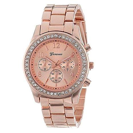 Nuevo reloj de cristales, moda para dama mujeres niñas falso cronógrafo cuarzo reloj clásico redondo