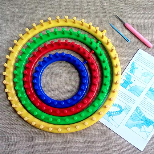 Wayion Long and Round Knitting Loom Set Craft Kit with Hook Needle,Gift Pompom Maker by Wayion (Image #4)