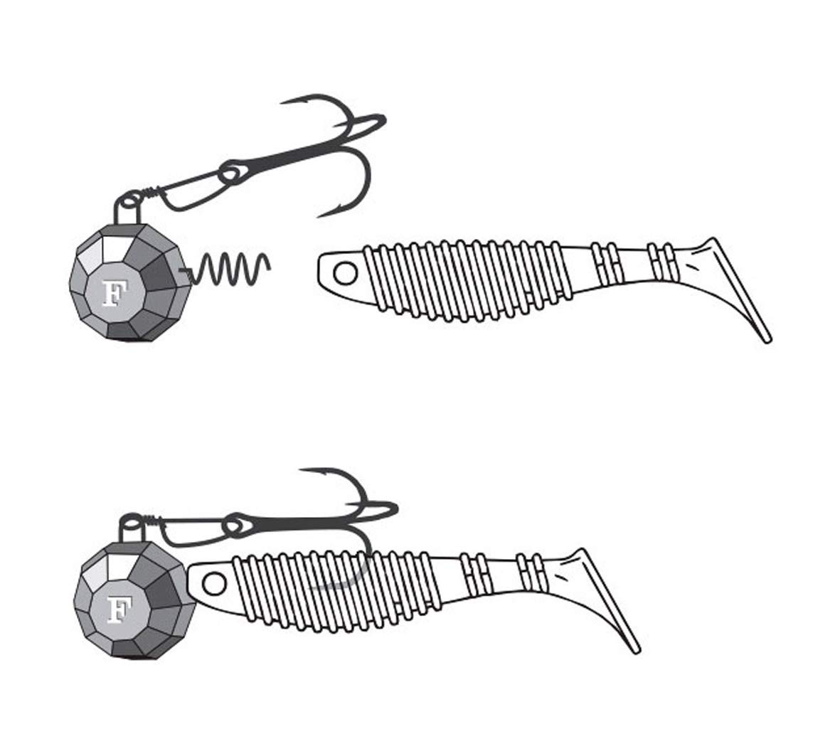 FANATIK Jig Heads Cheburashka Screw 5-35g Fishing Lures