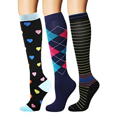 b53599635e Amazon.com: YOLIX Compression Socks for Women & Men 20-30 mmHg - 3/6 ...