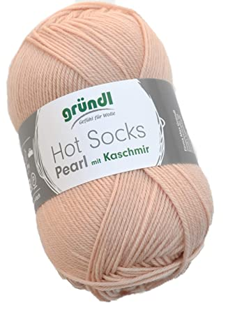 Gründl Hot Socks Pearl Farbe 16 puder rosa Sockenwolle mit Merino ...