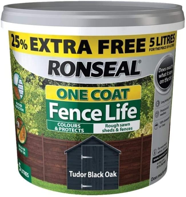 RONSEAL ONE COAT FENCE LIFE | Exterior Timber Stain 'TUDOR