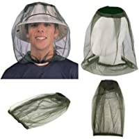 Hqeupiao Head Net Mesh, Beekeeper Anti-Mosquito Bee Bug Insect Fly Mask Cap Hat Protective Cover Mask for Any Outdoor Lover