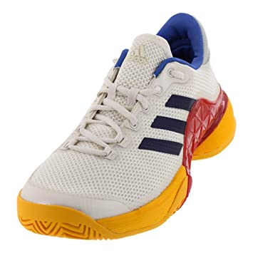 8b96b6dfec11c ADIDAS S81004-F17 Men`s Barricade 2017 Pharrell Williams Tennis Shoes  Scarlet and Chalk