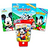 Disney Mickey Mouse Night Light and Storybook Set — Nightlight and 3 Look and Find Story Books (Mickey Mouse Bedtime Set) For Sale