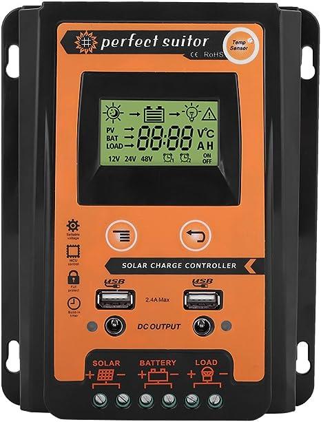 Amazon.com: MPPT Cargador Solar Controlador - Panel Solar ...