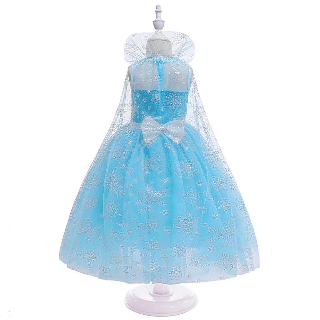 Fille Yuyuando Deguisement Robe Fille Robe Reine Neige Elsa 2 9 Ans Robe Ceremonie Longue Halloween Fille Deguisement Robe Hiver Costume Carnaval Deguisement Robe Anniversaire Fille Sou L Jp