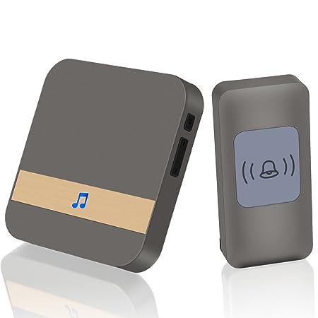 Wireless Doorbell Chime MZHOU Max 1000 Feet Range With 52 Ringtones Garage  Door Bell Flashing Light