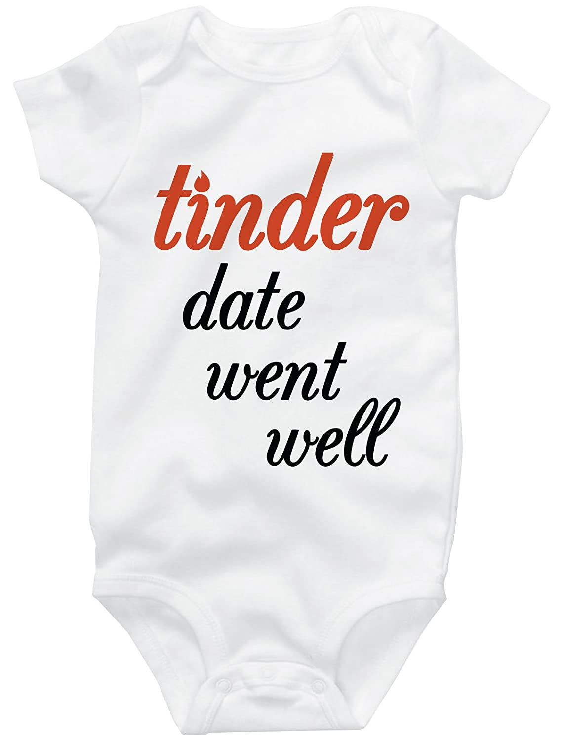Funny Baby Onesies, Cute Bodysuit, Tinder Date Went Well Baby Clothes
