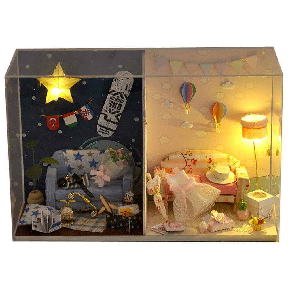 promocionales de incentivo Casa de de de muñecas en miniatura DIY Modelo Juguetes creativos Diy Hut en el aniversario de ensamblaje manual Un regalo de cumpleaños Casa de muñecas de madera DIY Mini kit hecho a mano para niñas Cabina  hasta un 50% de descuento