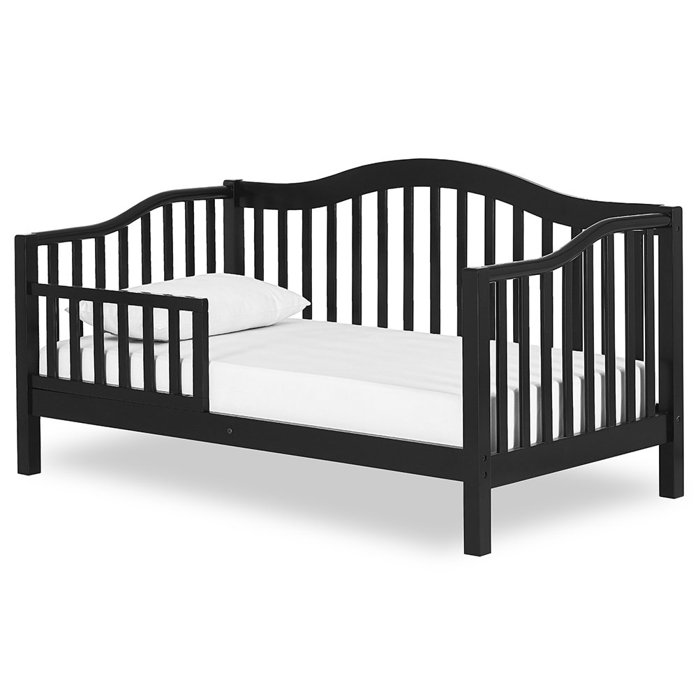 Dream On Me Austin Toddler Day Bed in Black, Greenguard Gold Certified