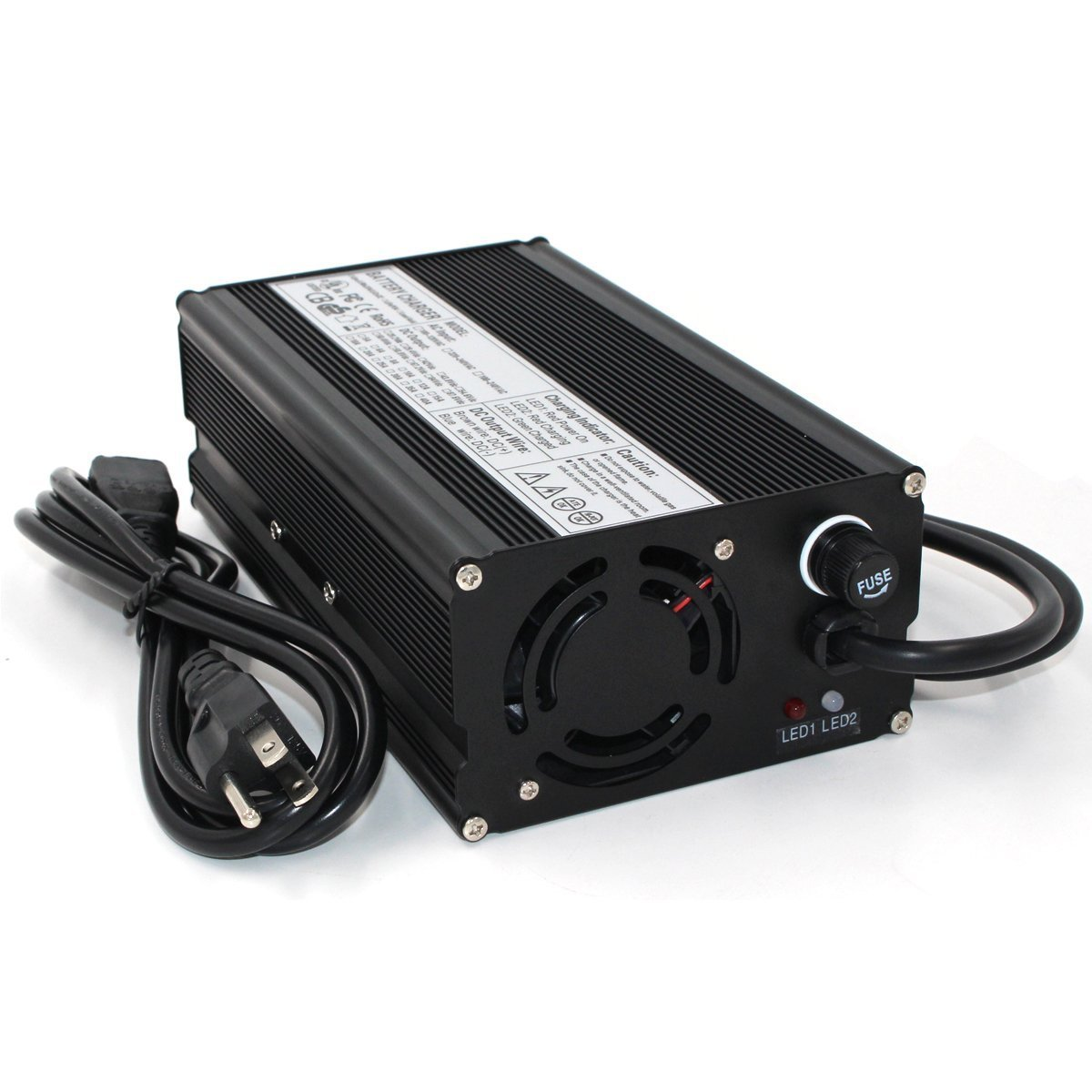 58.8V 10A Charger 58.8V Li-ion Battery Charger for 3S 58.8V 51.8V Lipo/LiMn2O4/LiCoO2 Battery Pack Quick Charge Fully Automatic