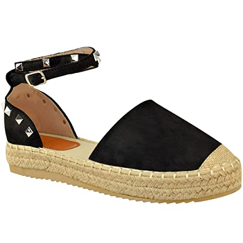 espadrillas zeppa borchie cinturino sandali estivi donna scarpe donna