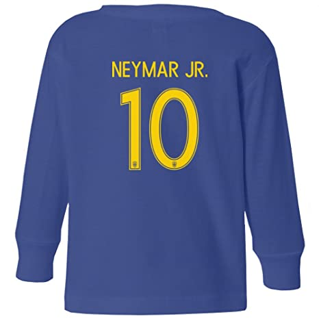 Amazon.com  Tcamp Brazil 2018 National Soccer  10 NEYMAR JR. World  Championship Little Kids Girls Boys Toddler Long Sleeve T-Shirt  Sports    Outdoors 0a69b68fb
