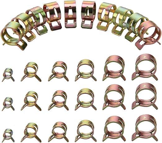 60 tlg Schlauchschellen Klemmschellen Edelstahl 6//9//10//12//14//15mm Sortiment Set