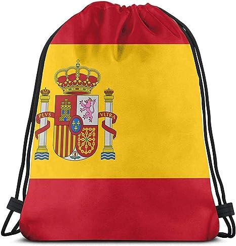 Arvolas Bolsas con cordón de Gimnasio Bandera de España Bolsa de tirón de Cuerda Mochila de Cuerda Bolsas Cinch duraderas Bolsa de Deporte portátil: Amazon.es: Deportes y aire libre