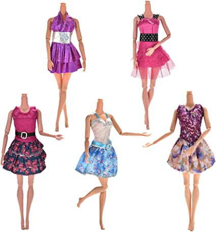 New Buytra 10-Pack Doll Clothes Handmade Wedding Dress Party Gown Clothes Out..