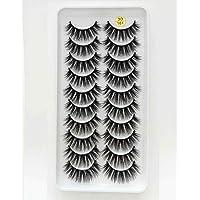 JYAU 8 Pairs 3D Mink False Eyelashes Natural Wispy Fluffy Dramatic Volume Lashes Extension Handmade Cruelty-Free Eyelash…