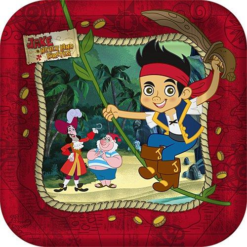 Jake and the Never Land Pirates Disney Birthday Party Dessert Plates Shindigz SG/_B007JALZYO/_US