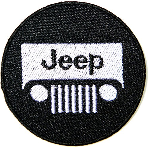 Jeep Wrangler Sahara 4WD Off Road Patch Iron on Sewing Embroidered Applique Logo Badge Sign Embelm Craft Gift (White)