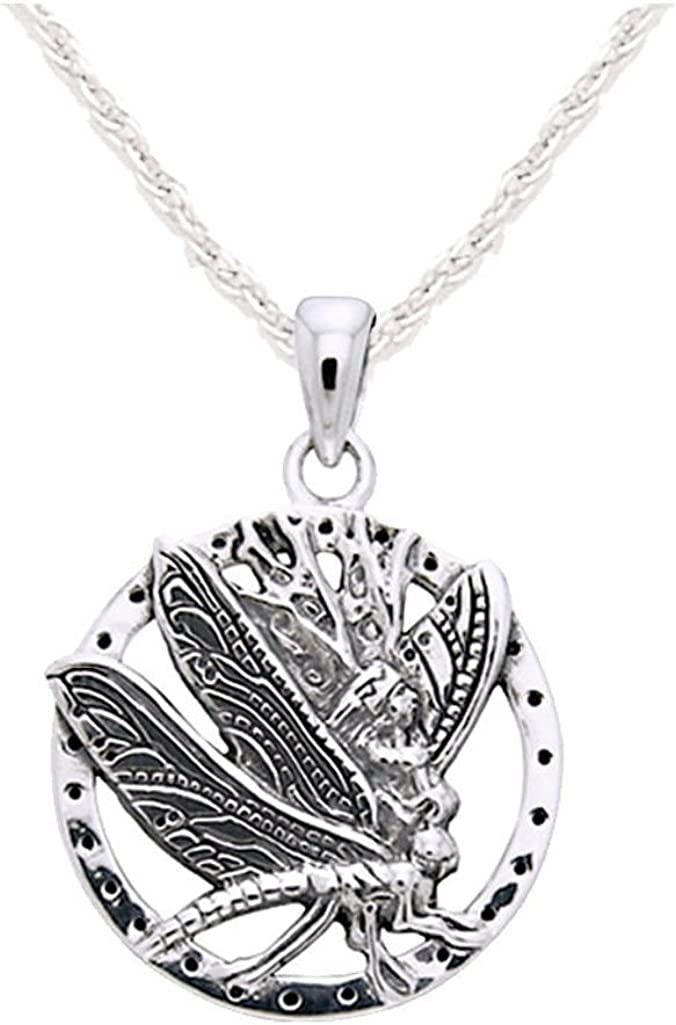 Tebapi Womens Pendant Necklaces Necklace Silver Dragonfly Statement Necklaces Pendants Vintage Rope Chain Necklace Women Accessories Jewelry