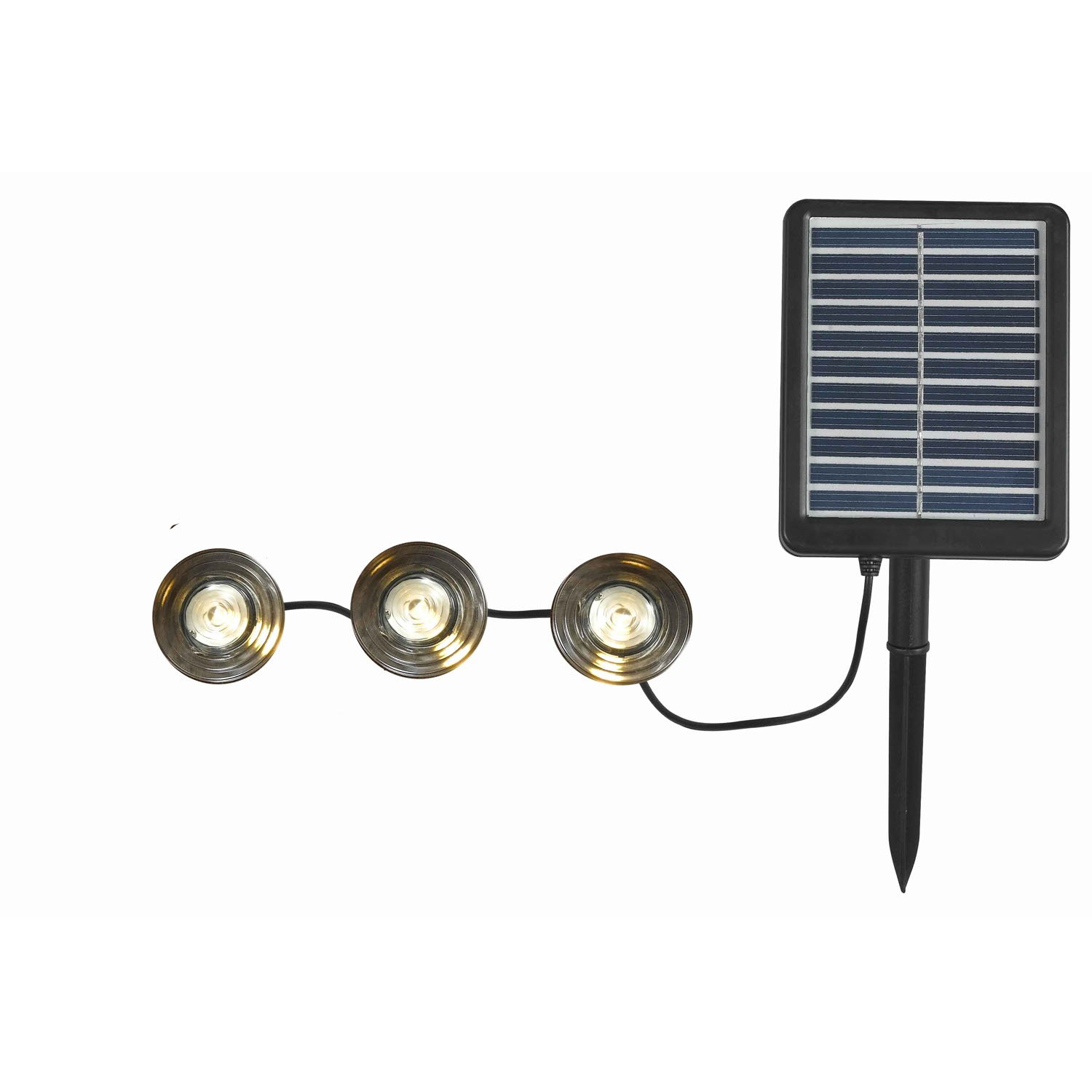 Kenroy Home M11879 3-Light Deck and Path Solar Set with Panel