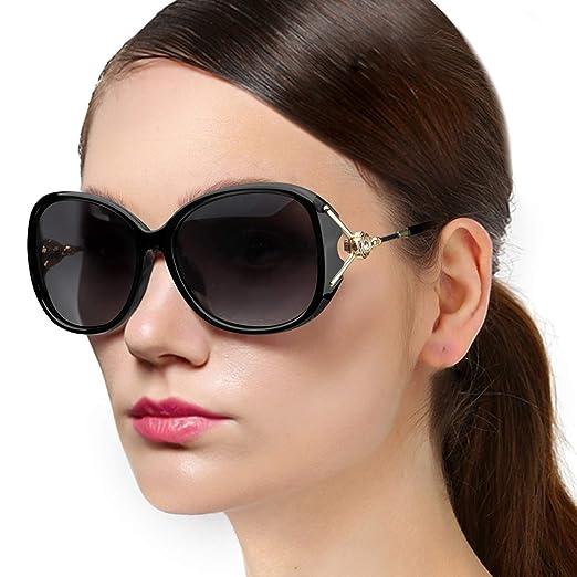 488dce34938 Amazon.com  Protineff Oversized Polarized Sunglasses for Women ...