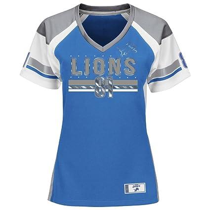 102484f26 VF Ladies Calvin Johnson Detroit Lions Jersey Draft Him Fashion Top (Large)