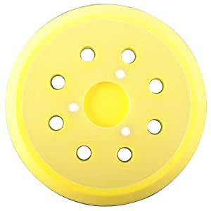151281-08 Hook and Loop Sander Pad - 5-inch 8 hole Sander Hook and Loop Replacement for Dewalt/Porter Cable R/O sanders Replaces DW421K DW423K DW421 DW423