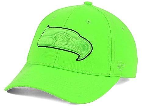 8b943817 Amazon.com : Seattle Seahawks Hat Cap Lime Green & Navy Blue ...