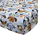 #10: Lambs & Ivy Bow Wow Buddies Fitted Crib Sheet