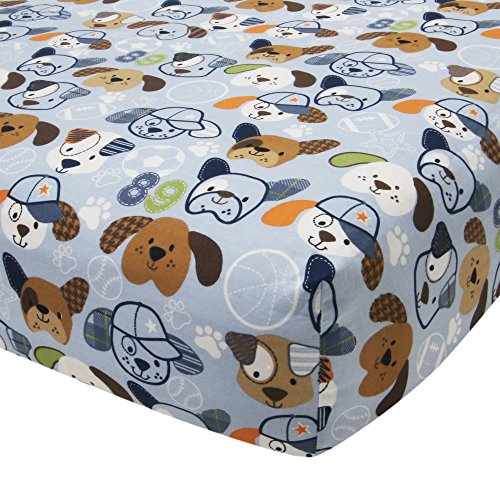Lambs & Ivy Bow Wow Buddies Fitted Crib Sheet