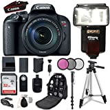 Canon EOS Rebel T7i DSLR Camera with Canon EF-S 18-135mm f/3.5-5.6 IS STM Lens + 32GB Memory Cards + Accessory Bundle