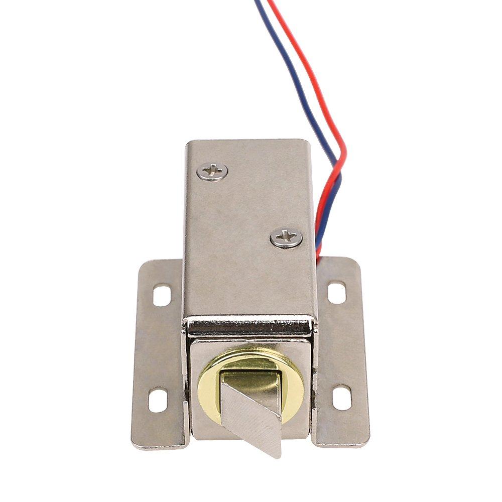 Mopei Serrure /électronique 12/V Mini Serrure /électrique sol/éno/ïde de montage pour porte darmoire tiroir