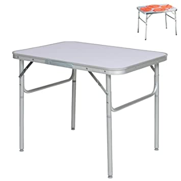 Table De Camping Pliante En Aluminium  X  Cm Table De Jardin