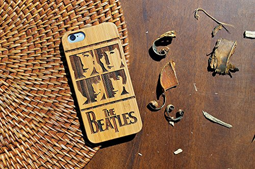 The Beatles HANDMADE Iphone wooden case eco-friendly wood Rock Band fan art design gift for boys and girls (Iphone 6 (s) Plus)