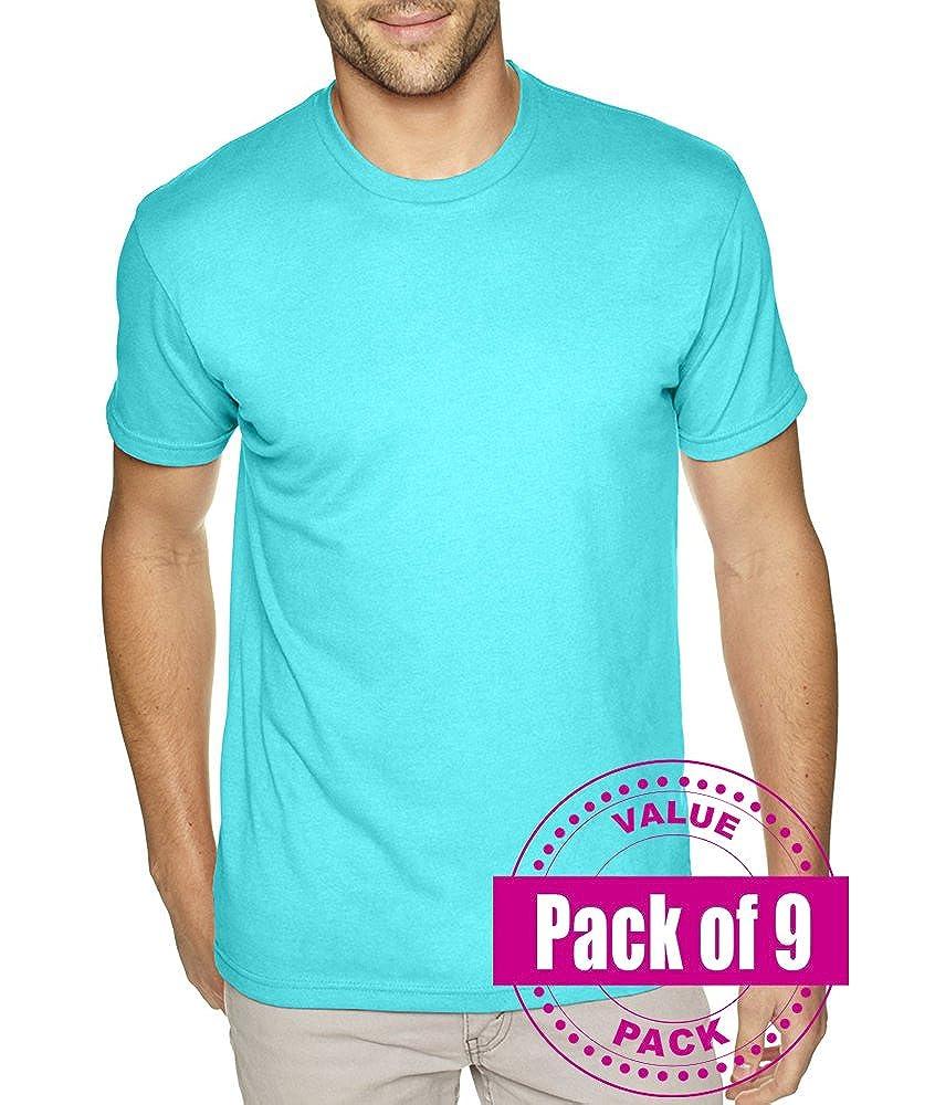 Next Level Mens Premium Sueded Crew 6410-Tahiti Blue 9 Pack