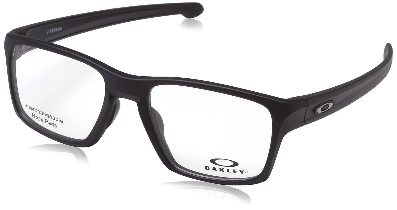 28916af9812 Amazon.com  OAKLEY 0OX8140 - 814001 Eyeglasses SATIN BLACK 53mm  Clothing