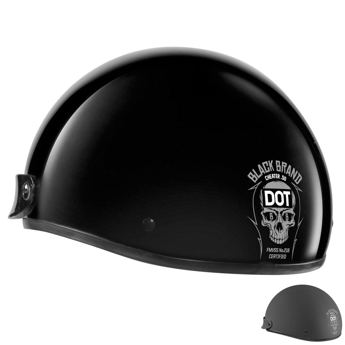 Black Brand Cheater Half Helmet