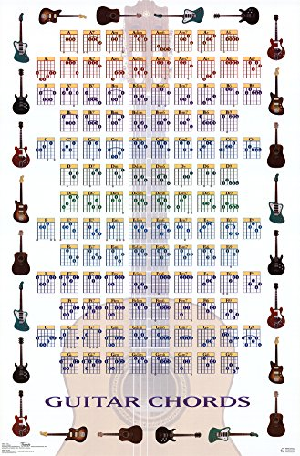 "Trends International 1457 Guitar Chords Wall Poster, 22"" x 34"""