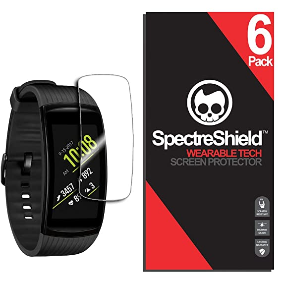 (6-Pack) Spectre Shield for Samsung Gear Fit2 Pro Screen Protector (Military