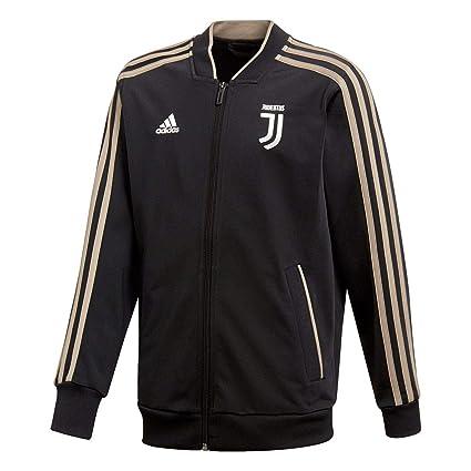 adidas 2018 2019 Juventus Polyester Jacket (Black) Kids