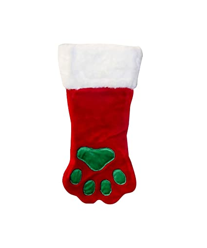 outward hound kyjen 30017 christmas paw dog stocking holiday and christmas accessories for dogs small - Dog Stockings For Christmas