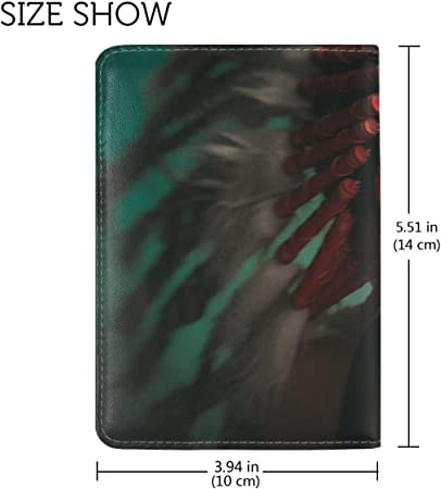 Girl Indian Face Camouflaging Leather Passport Holder Cover Case Travel One Pocket