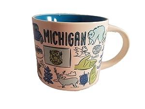 Starbucks Michigan Been There Series Ceramic Coffee Mug, 14 oz