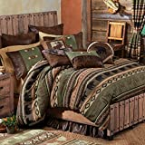 Timber Woods Moose & Bear Bed Set - King - Wilderness Bedding Linens