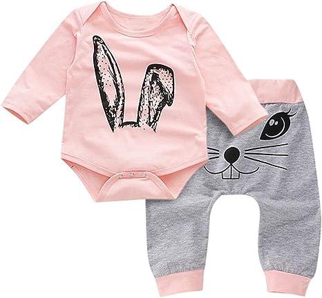 Neue Herbst Winter Baby Kleidung Neugeborenen Karikaturdruck Nette 4 Stücke U2Q9