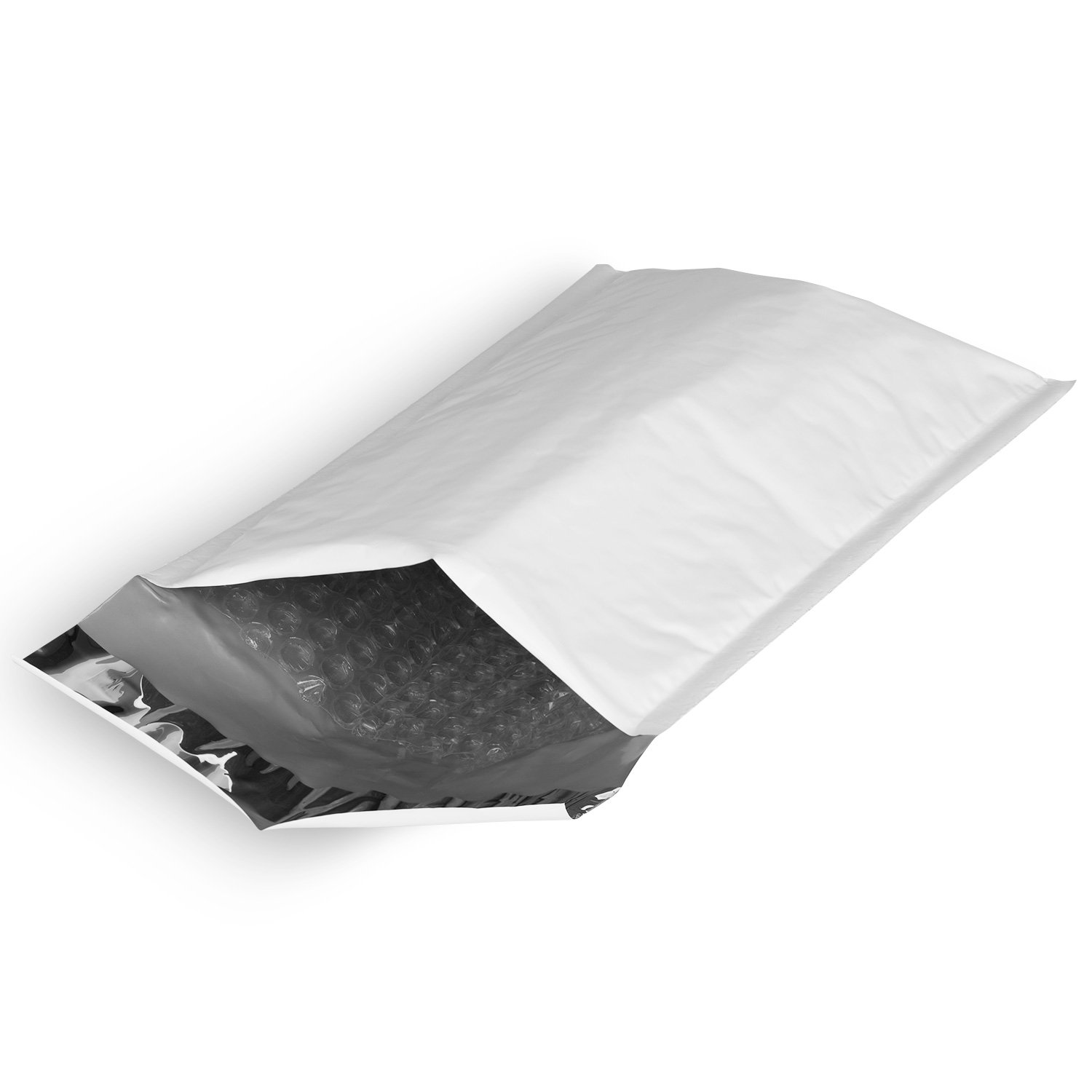 #0 Soft Shell Self-Seal Tear-Proof Poly Bubble Mailer - 6.5 x 10 in. (50 Pack) Fosmon Technology