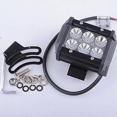 4x Avec brand 18w Cree Spot light led work light bars pods bottom mount