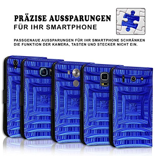 Wallet Book Style Flip Handy Tasche Case Schutz Hülle Schale Motiv Etui für Apple iPhone 6 Plus / 6S Plus - Design Flip MV289